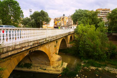 Bridge over Tiron river in Haro, La Rioja. Spain Stock Images