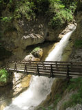 Bridge over troubled water. In tirol Royalty Free Stock Photo