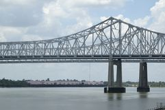Bridge over Troubled Waters. Bridge From New Orleans to The West Bank Royalty Free Stock Photos