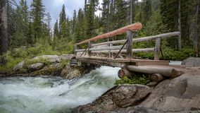 Bridge over troubled waters royalty free stock photo