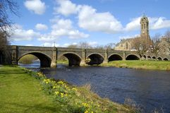 Bridge over the Tweed, Peebles Royalty Free Stock Image