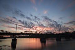 Bridge over the Umeå, River in Sweden royalty free stock photo