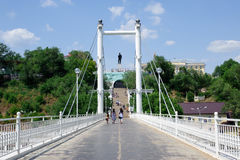 The bridge over the Ural river Royalty Free Stock Photography