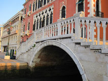 Bridge over Venetian Canal Stock Photos