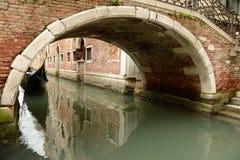 Bridge over Venetian canal Royalty Free Stock Photo