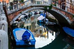 The bridge over Venice canal stock photos