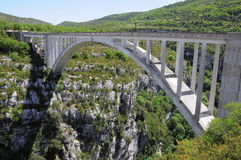 Bridge over Verdon gorge. Stock Photos