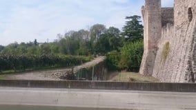 Bridge over Virgilio Canal stock video