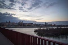 Bridge over the Visla in Poland, Warshava. Bridge over the Visla Poland Stock Photography