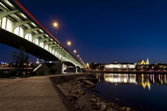 Bridge over the Vistula river Royalty Free Stock Photography