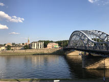 Bridge over the Vistula river Stock Photos