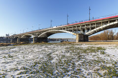 Bridge over Vistula river in Warsaw Stock Image