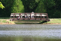 Bridge Over Water. Bridge over a pond of water Royalty Free Stock Images