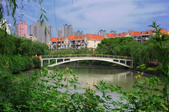 Bridge over water Royalty Free Stock Image
