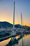 Bridge over water in La Spezia, Italy Royalty Free Stock Photo