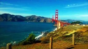 Bridge over water. San Francisco Bridge under a blue sky Stock Photo