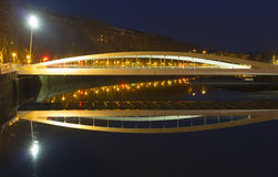 Bridge over water, Urumea river in the city. Royalty Free Stock Photos