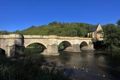The bridge over the Werra Stock Images