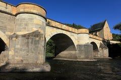 The bridge over the Werra Stock Photos