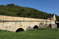 The bridge over the Werra Royalty Free Stock Photography