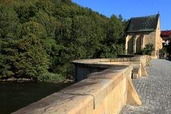 The bridge over the Werra Stock Photo