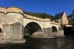 The bridge over the Werra Stock Image