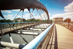 Bridge over Wisla in Krakow Royalty Free Stock Images