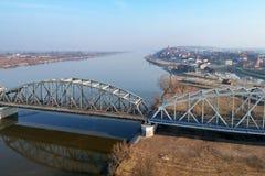 Bridge over Wisla river in Grudziadz. Poland Royalty Free Stock Images