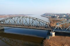 Bridge over Wisla river in Grudziadz. Poland Royalty Free Stock Photos