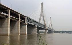 Bridge over Yangtze river Royalty Free Stock Photos