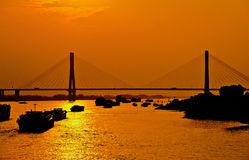 Bridge over the Yangtze River Royalty Free Stock Images