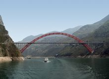 Bridge over Yangtze River Stock Photo