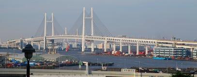 Bridge over Yokohama Port in Japan stock photography