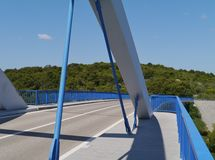 The bridge over the Zdrelac strait Royalty Free Stock Photography
