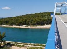 The bridge over the Zdrelac strait Stock Photos