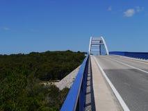 The bridge over the Zdrelae strait Stock Image