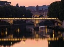 Bridge overpass in Rome Royalty Free Stock Photos