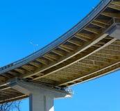Bridge overpass. Or tresle (below view Stock Photo