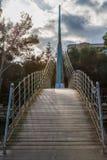 Bridge with padlocks on Stock Photography