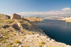 Bridge, Pag Island, Croatia Stock Images