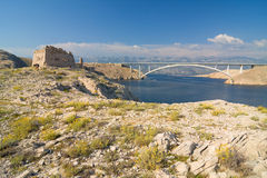 Bridge, Pag Island, Croatia Royalty Free Stock Image