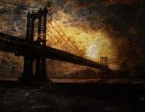 Bridge painting Royalty Free Stock Image