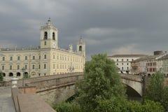 Bridge and Palace, Colorno Stock Photos