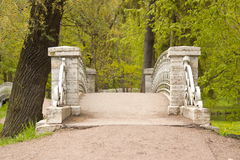 The bridge in the Palace Park. stock photo