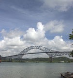 The bridge through Panama canal Royalty Free Stock Image