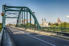 A bridge in Pancevo across the river Tamis. Stock Images