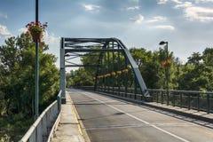 A bridge in Pancevo across the river Tamis. Royalty Free Stock Photos