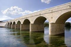 Bridge on Panj Royalty Free Stock Photography