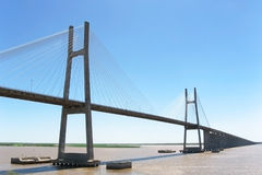 Bridge on the Parana river Stock Photo