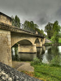 Bridge at Parcoul Stock Photography